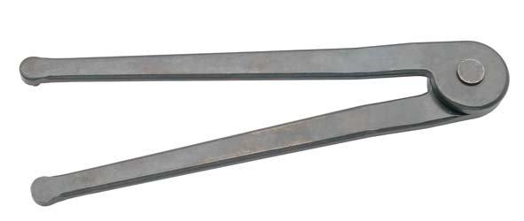 Zweilochmutternschlüssel, verstellbar, ELORA-892-8