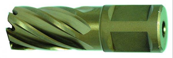 HSS-Co Kernlochbohrer, 30 mm Schnitttiefe 16,0 mm Ø, m. Weldonschaft