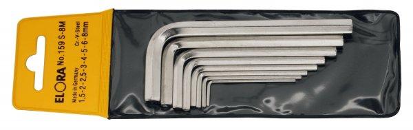 Winkelschraubendreher-Satz, 10-teilig 1,5-12 mm, mit SB-Tasche, ELORA-159S-10M