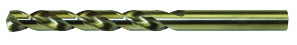Spiralbohrer DIN 338 Typ N aus HSS/Co 5,0 mm Ø, goldfinish
